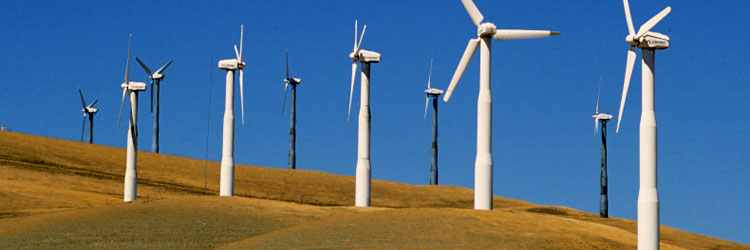 Efficient Green Power - Wind Turbine Generated Power Energy
